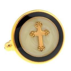 Gold Crucifix Cufflinks