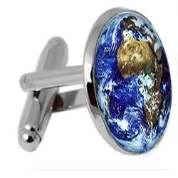 Blue Marble Globe Cufflinks