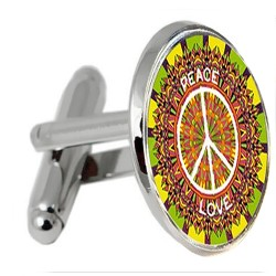 Peace and Love Cufflinks