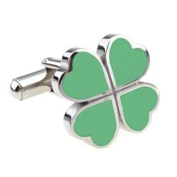Lucky Cufflinks (Four Leaf Clover)