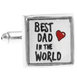 "Dad Cufflinks (""Best Dad In The World"")"