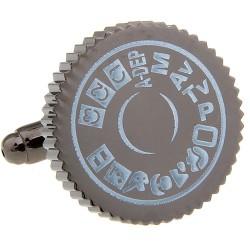 Camera Cufflinks (Classic Mode Dial)