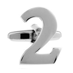 Number Cufflink (Single No. 2)