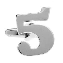 Number Cufflink (Single No. 5)