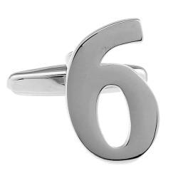 Number Cufflink (Single No. 6)