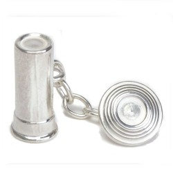 Sterling Silver Clay Pigeon Cufflinks