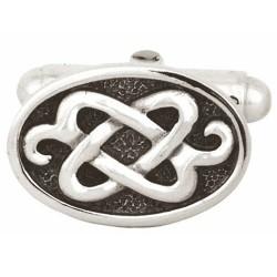 Sterling Silver Oval Celtic Knot Cufflinks