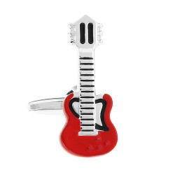 Electric Guitar Cufflinks (Red)