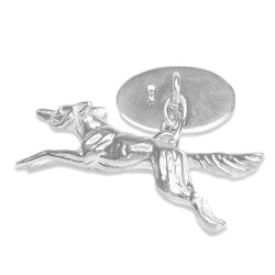 Sterling Silver Fox Cufflinks