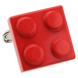 Building Brick Cufflinks (Red)