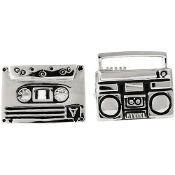 Cassette Tape and Ghetto Blaster Cufflinks