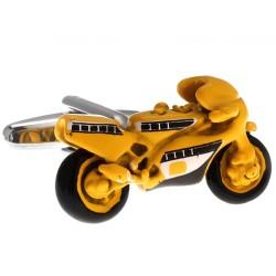 Superbike Cufflinks (Yellow)