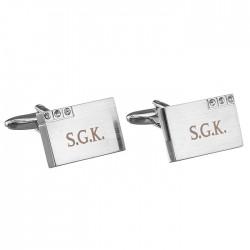 Personalised Diamante Cufflinks