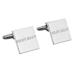 Personalised Any Message Square Cufflinks - 1 lines