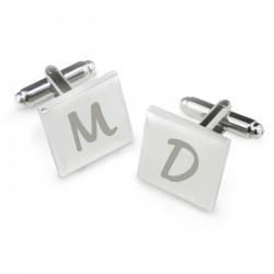 Personalised Square Initial Cufflinks