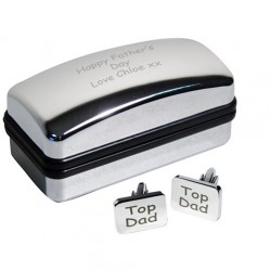 Top Dad Cufflinks and Personalised Case