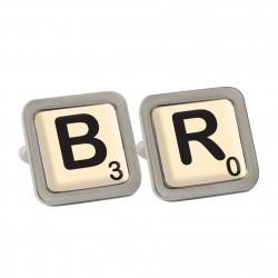 Personalised Scrabble Birthday Cufflinks