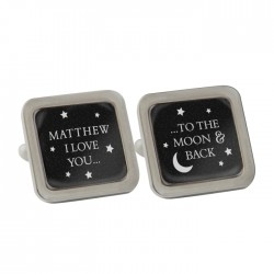 Personalised 'To the Moon and Back' Cufflinks